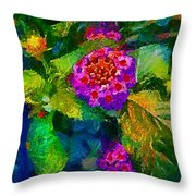 Flowers Confusion Throw Pillow