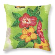 Flowers For My Soul Throw Pillow
