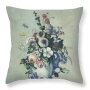 Flowers In A Rococo Vase Throw Pillow