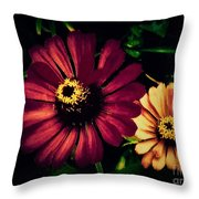 Flowers Lighting Up The Darkness Throw Pillow