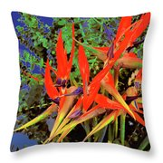 Flowers Of Paradise Throw Pillow