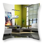 Fly The Friendly Skies Art Throw Pillow