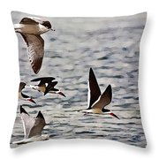 Flying The Inter-coastal - T Throw Pillow