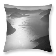 Fog Over The Iseo Throw Pillow