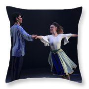 Folk Dancing  Throw Pillow