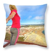 Follow Me In Portugal Throw Pillow