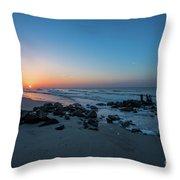 Folly Beach Sunrise Throw Pillow