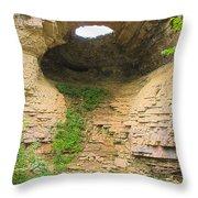 Fonferek Glen Rock Bridge And Falls Throw Pillow