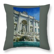 Fontana Di Trevi, Rome Throw Pillow