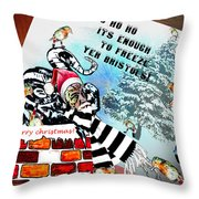 Football Derby Rams Against Bristol Robins Throw Pillow