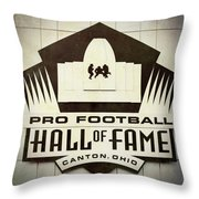 Football Hall Of Fame #1 Throw Pillow