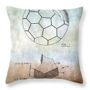 Football Patent Throw Pillow