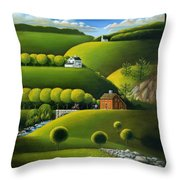 Foothills Of The Berkshires Throw Pillow