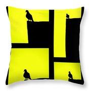 For The Birds Throw Pillow