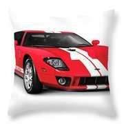 Ford Gt Supercar Throw Pillow