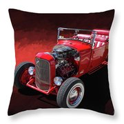 Ford Hot Rod Roadster Throw Pillow