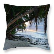 Forest Beach Throw Pillow