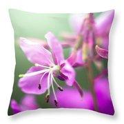 Forest Flower Throw Pillow by Adnan Bhatti