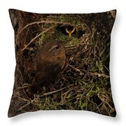 Forest Gnome Throw Pillow