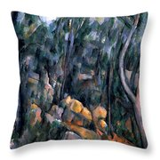 Forest In The Caves Above The Chateau Noir Throw Pillow