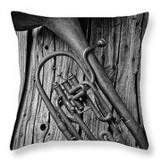 Forgotten Tuba Throw Pillow