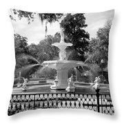 Forsyth Fountain Park Throw Pillow
