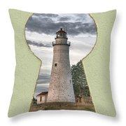 Fort Gratiot Lighthouse Throw Pillow