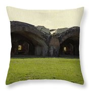 Fort Pickens Arches Throw Pillow