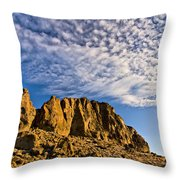 Fort Rock North Wall Throw Pillow