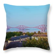 Forth Bridge, Scotland Throw Pillow