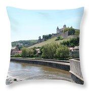 Fortress Marienberg - Wuerzburg - Germany Throw Pillow