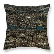 Foster City, California Aerial Photo Throw Pillow
