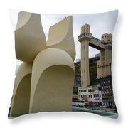 Fountain Of The Market Ramp By Mario Cravo Throw Pillow