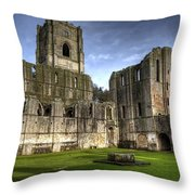 Fountains Abbey 6 Throw Pillow