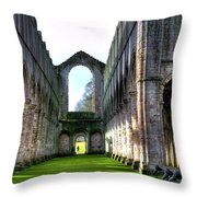 Fountains Abbey 7 Throw Pillow