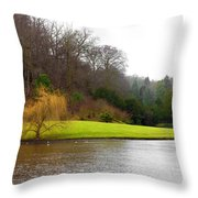Fountains Abbey  Lake 1 Throw Pillow