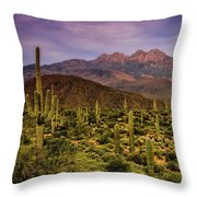 Four Peaks Golden Hour  Throw Pillow