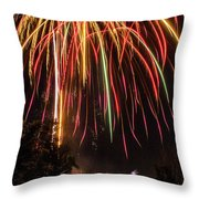 Fourth O' July Throw Pillow by Tyson Kinnison