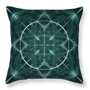 Fractal Fireworks  Throw Pillow