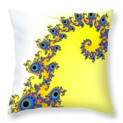 Fractal Seahorse Pattern Throw Pillow