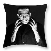 Frankensteins Monster Boris Karloff Throw Pillow