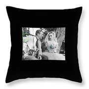 Fred Astaire And Audrey Hepburn Publicity Photo Funny Face Paris France 1957-2014 Throw Pillow
