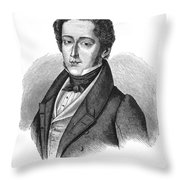 Frederic Chopin (1810-1849) Throw Pillow