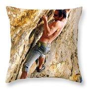 Free Climber Throw Pillow