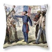 Freedmens Bureau, 1868 Throw Pillow by Granger