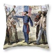 Freedmens Bureau, 1868 Throw Pillow