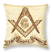 Freemason Symbolism By Pierre Blanchard Throw Pillow