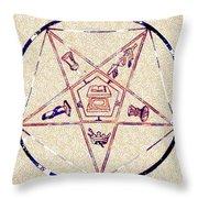 Freemason Symbolism Throw Pillow
