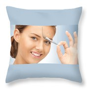 Freeze Skin Tags Throw Pillow
