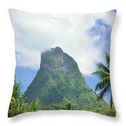 French Polynesia Moorea Throw Pillow